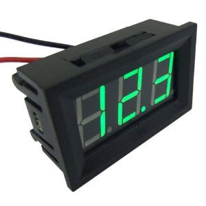 Voltmeter Green LED Panel 3-Digital Display
