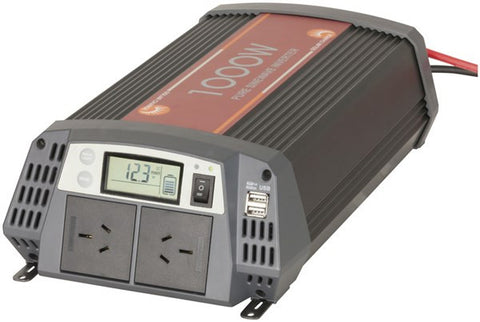 PowerTech 1000 Watt 12VDC to 230VAC Pure Sine Wave Inverter and SLA 30A Solar Charge Controller