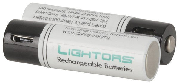 micro USB Rechargeable Batteries Ni-MH 1.2V 1200mAh - AA 2 Pack