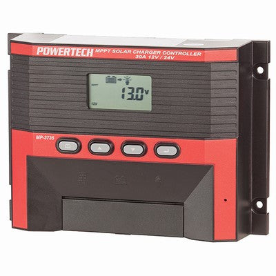 PowerTech Solar Power Controller with LCD - 12V or 24V 30A