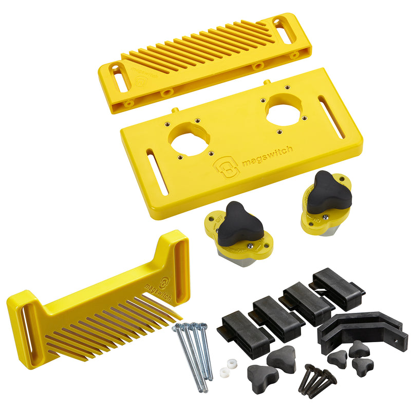 Woodworking Starter Kit Plus Vertical Featherboard Bundle - 8800792, , Magswitch,Mag-Tools - Magswitch Tools