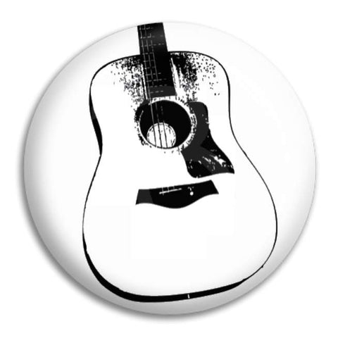 Acoustic Guitar Button Badge