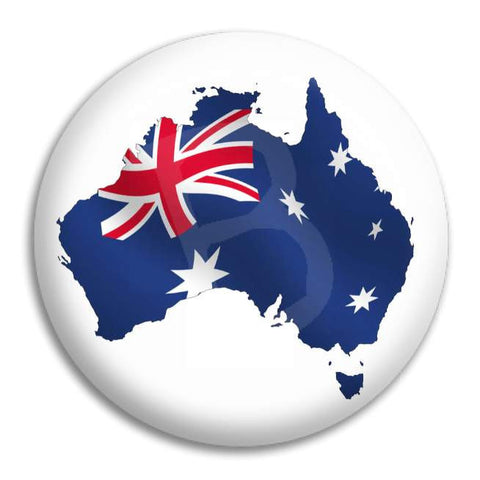 Australia Shaped Flag Button Badge