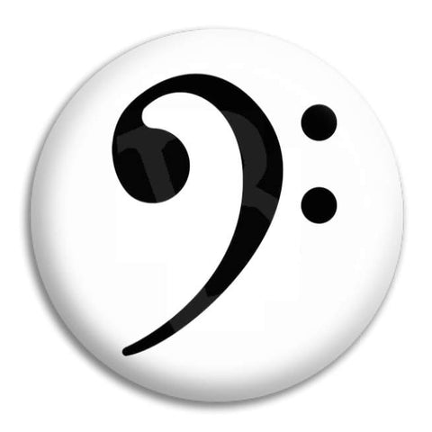 Bass Clef Button Badge