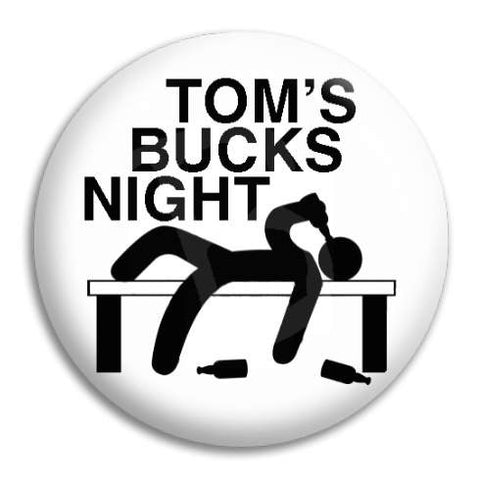 Bucks Night Drunk Man Customisable Button Badge