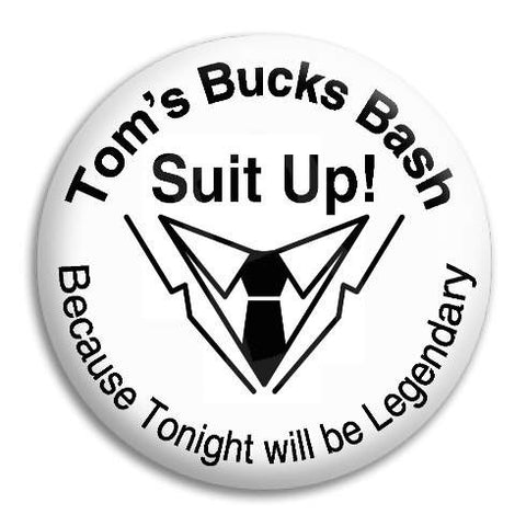Bucks Night Suit Up Customisable Button Badge