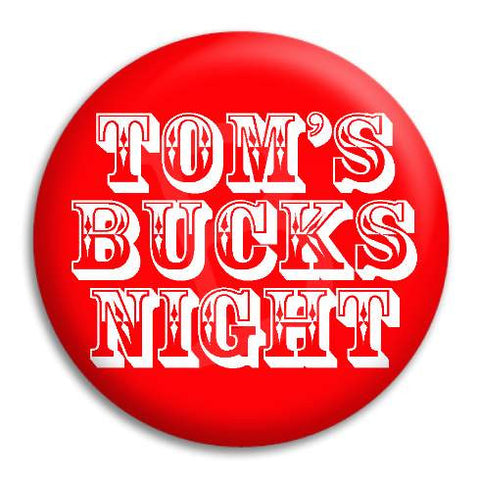 Bucks Night Western Customisable Button Badge