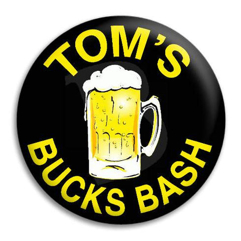 Bucks Party Beer Customisable Button Badge