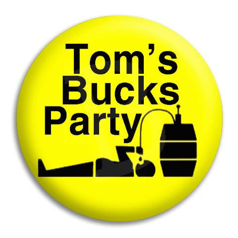 Bucks Party Drunk Keg Guy Customisable Button Badge