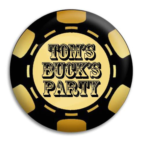Bucks Party Poker Chip Customisable Button Badge