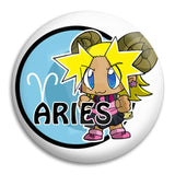 Cartoon Aries Button Badge