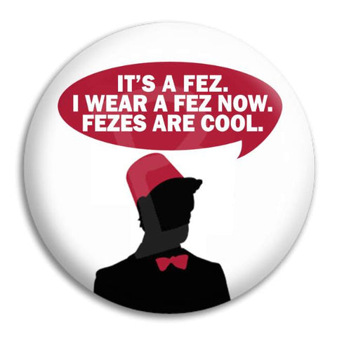 Doctor Who Fez Button Badge