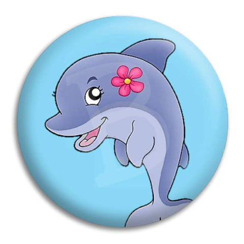 Dolphin Cute Button Badge