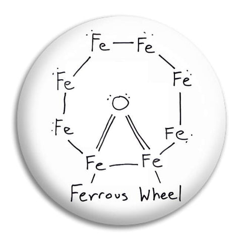 Ferrous Wheel Button Badge