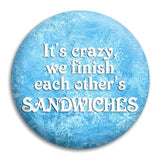 Frozen Its Crazy Button Badge