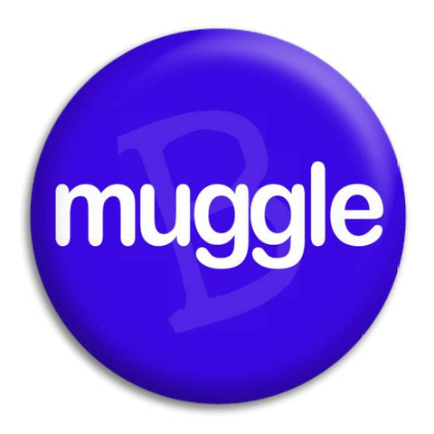 H.P   Muggle Button Badge