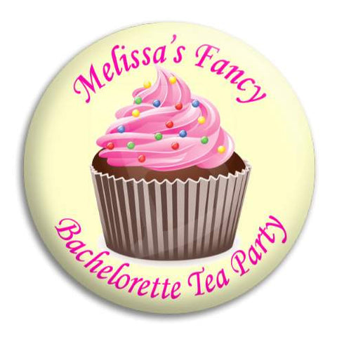 Hens Bachelorette Tea Party Customisable Button Badge