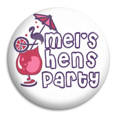 Hens Party Cocktail Customisable Button Badge