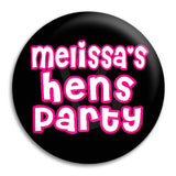 Hens Party Cute Text Button Badge