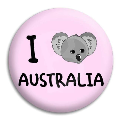 I Heart Koala Australia Button Badge