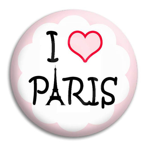 I Heart Paris Button Badge