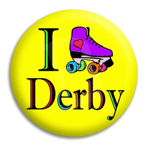I Heart Roller Derby Button Badge