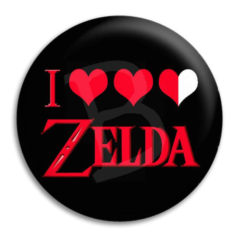 I Heart Zelda Button Badge