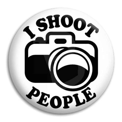 I Shoot People Button Badge