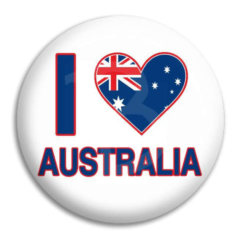 I Heart Australia Button Badge