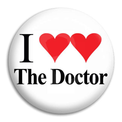 I Heart Heart The Doctor Button Badge