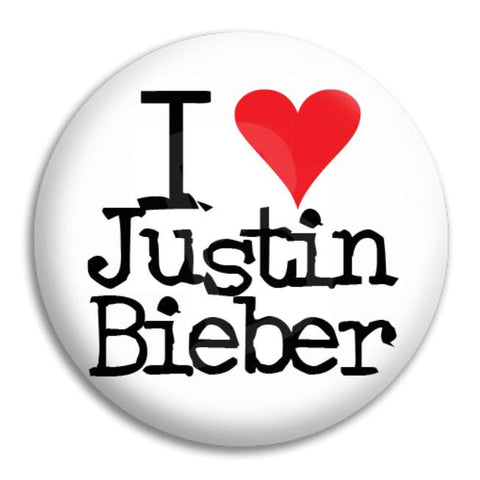 I Heart Justin Bieber Button Badge