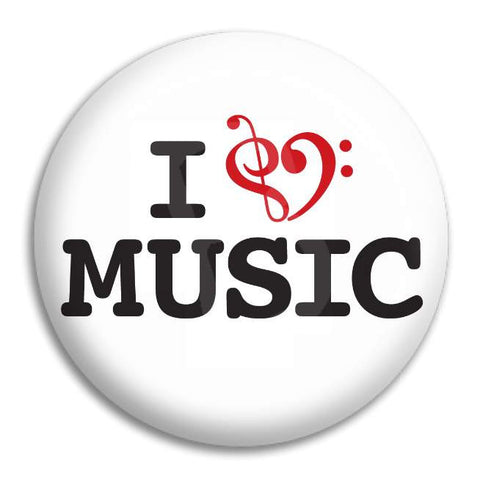 I Heart Music 2 Button Badge