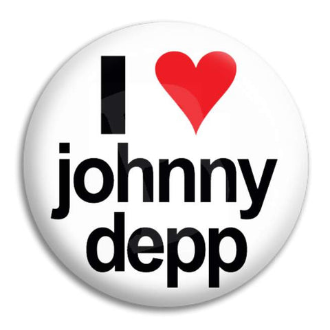 I Heart Johnny Depp Button Badge