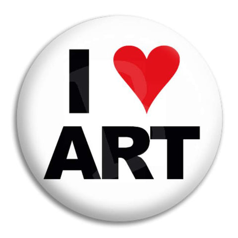 I Love Art Button Badge