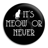 It'S Meow Or Never Button Badge