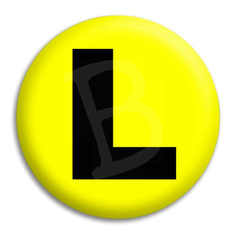 Learner L Button Badge