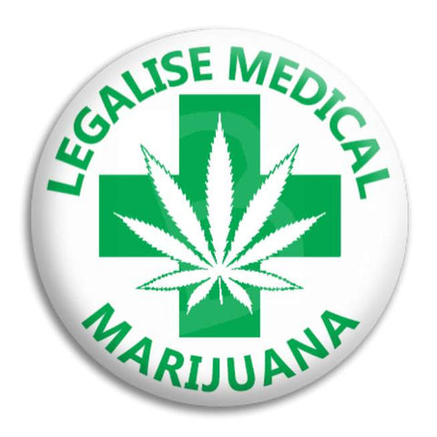 Medical Marijuana Button Badge