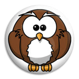 Owl Button Badge