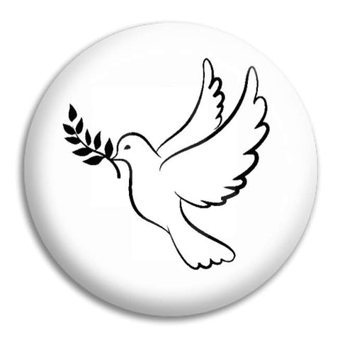 Peace Dove Button Badge