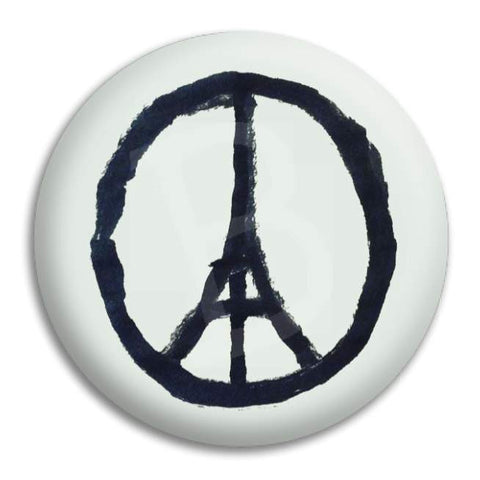 Peace Paris Button Badge