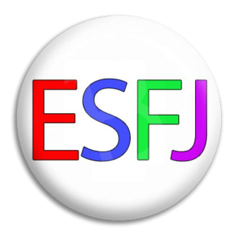 Rainbow Esfj Button Badge