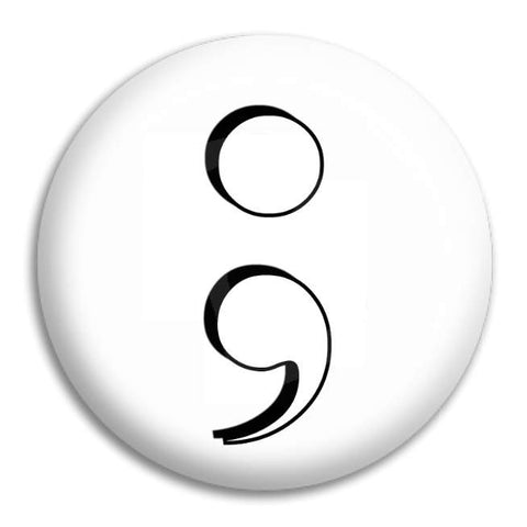 Semicolon Button Badge