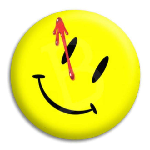 Smile With Splatter Button Badge