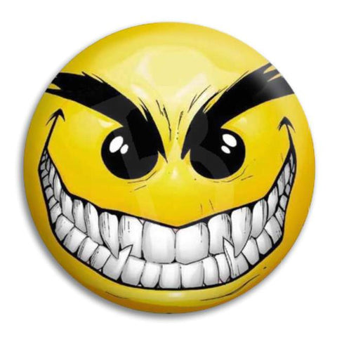 Smiley Evil Button Badge