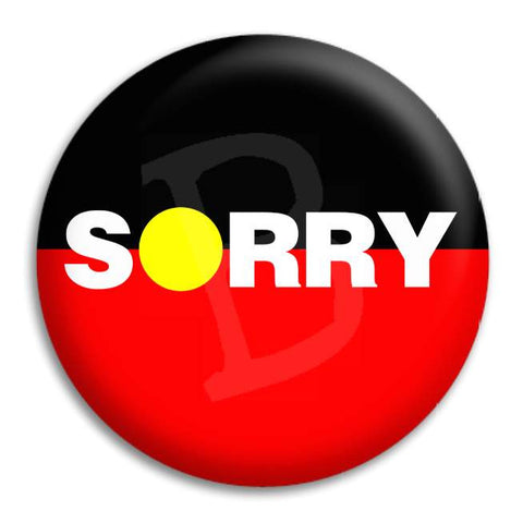 Sorry Button Badge