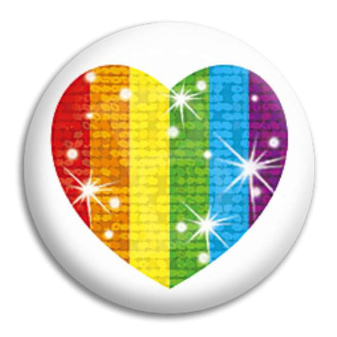 Stary Heart Button Badge