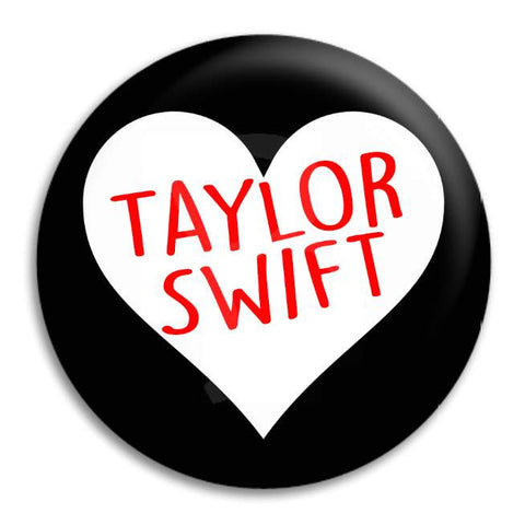 Taylor Swift Heart Button Badge