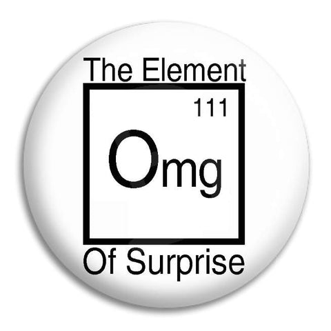 The Element Of Surprise Button Badge