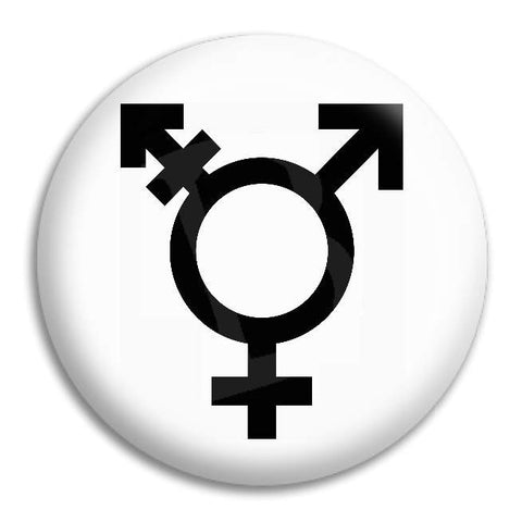Transgender Symbol Button Badge