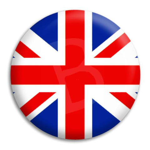 Union Jack Button Badge